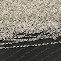 Free Shipping Wholesale Cheap width 2.3mm Silver round Iron Link Chains Findings Accessories 5 meter(J-M3767)
