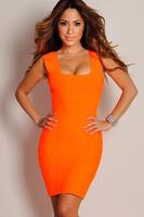 Summer orange strap dress fashion women Clothing Cheap Clothes China Summer Dress
