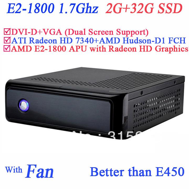 AMD E2 1800 1 7Ghz multimedia POS mini pcs with ATI Radeon HD 7340 512MB AMD