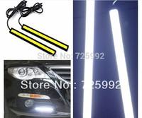 High Power New 12V daylight 12W COB car LED DRL light 100% waterproof bumper decorative sticker fog headlight led Free Shipping