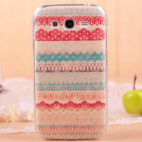 Top Quality Coloured Drawing Colour Decoration Glossy Hard Back Case Cover For samsung  i9082 i9080 Galaxy Grand DUOS