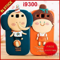 Korea ROMANE Cute Cartoon 3D Hello Geeks Silicon Soft Case for Samsung Galaxy S3 Siii I9300