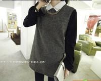 women streetwear cross pattern long length full sleeve turn down collar slim new arrival blouse free shipping A604-6266