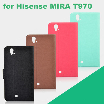 Fabric Grain Wallet Credit Card Magnetic Flip Leather Case for Hisense MIRA T970 Leather Case With Stand, Cell Phone Cases