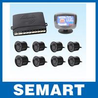 LCD Display Car Parking Sensor Car Reverse Backup Radar Kit with 8 Sensors Wholesale
