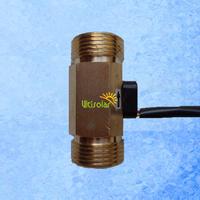 "USC-HS43TB brass body hall effect water flow sensor male G3/4"" DN20mm 2-45LPM"