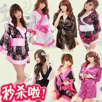 Sexy sleepwear kimono japanese style formal kimono bathrobe romantic women's costumes set