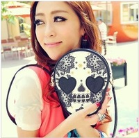 2013 Hot Selling Ladies PU Leather Handbag Popular Women Shoulder Bag Skull Bag  5 color Free shipping
