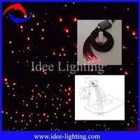 120pcs of 1.0/2.2mm  3m/pcs LED fiber optic star ceiling kit with black PVC