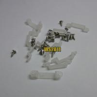 50pcs 10mm Silicon Clip & 100pcs 2.3mm x 8mm x 6mm Screws For 5050 WS2811 6803 RGB Sigle Color Strip