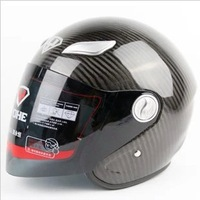 Free Shipping YOHE Motorcycle Helmets, Half Face Racing Helmet, 100% Carbon Fiber, DOT, ECE Approved
