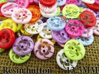 200PCS mixed resin button flower13.5MM children skirt buttons bulk clothes fit finding R-135-1