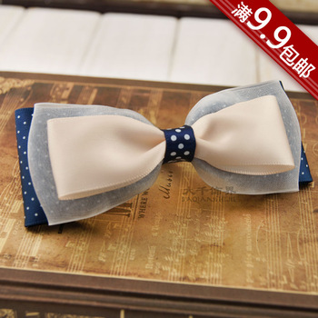 Great hair accessory chiffon bow hair accessory handmade diy clip hair pin hair accessory d228