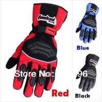 Free shipping !!! 3 Colors warm Waterproof Motorcycle Bike full finger Protective gear Racing Gloves SIZE:M/L/XL