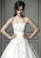 Free Shipping S900 Export Manufacturers Custom Straps Luxury Trailing Wedding Dress New 2013 Europe and America