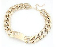 Gorgeous hot  Hollow Thick chain concise free shipping 3pcs lot fashion necklaces 2013 fashion style