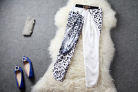 2013 fashion casual pants female leopard print pattern harem capris pants