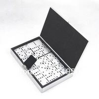 Aluminum alloy dominoes entertainment funny games+free shipping