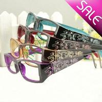 high quality new fashion reading glasses women elegant prescription frame diamond carved resin lenses wholesale free shipping