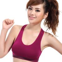 Wireless sports bra yoga running comfortable sleeping shockproof breathable sweat absorbing push up underwear