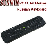 RC11 Russsian 2.4GHz Wireless Mini Fly Air Mouse Keyboard Gyroscope for Google Android Mini PC TV Box Media Player