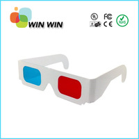 Hot selling 200pcs/lot anaglyph cardboard red cyan 3D Glasses Paper Wholesale