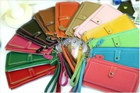 ladies' PU Hand bag, fashion handbag,clutch bag,12 colors Free shipping wallet handbags cardbags purse free shipping