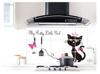New oil paste waterproof high temperature resistant pvc kitchen smoke wall stickers