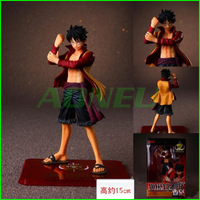 Free Shipping Japanese Anime Cartoon One Piece Action Figures Toys Luffy 15cm Height PVC Doll Model Collection Christmas Gift