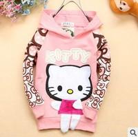 9M-3Y new hello kitty hoodies sweatshirts 100% cotton kids girls autumn outerwear children's clothing jackets coat tops