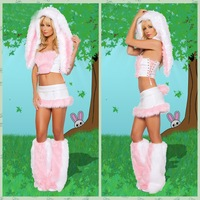 2013 New Arrival Fashion Halloween Pink Costumes Sexy  Bunny Costumes Cosplay Party Costumes  Z179
