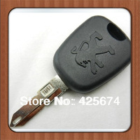 wholesale free shipping for 10pcs/lot peugeot 206 transponder key shell