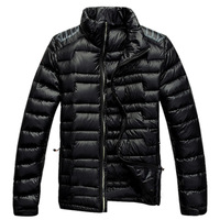 Lvk down coat short design male thin down coat