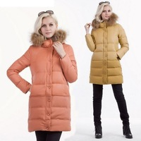 2013 all-match slim with a hood patchwork thickening thermal down coat