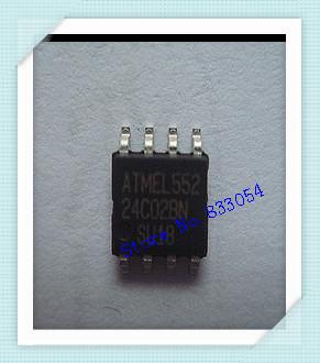 Free Shipping 100 PCS AT24C02 24C02 ATMEL SOP8 AT24C02BN-10SU-1.8(China (Mainland))