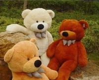 2013 new Teddy bear plush toys 4 color:  Light Brown, Dark Brown, White, Pink