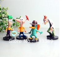 Phineas and Ferb 2013 new coming hot sell kid model toy 4 in/lot