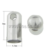 Free shipping!!!Stainless Steel End Caps,2013 Jewelry, oril color, 9x4.50mm, Hole:Approx 4mm, 300PCs/Bag, Sold By Bag