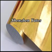 Chrome Mirror Vinyl Gold Color Chrom Car Sticker Sheet Air Free Fedex Free