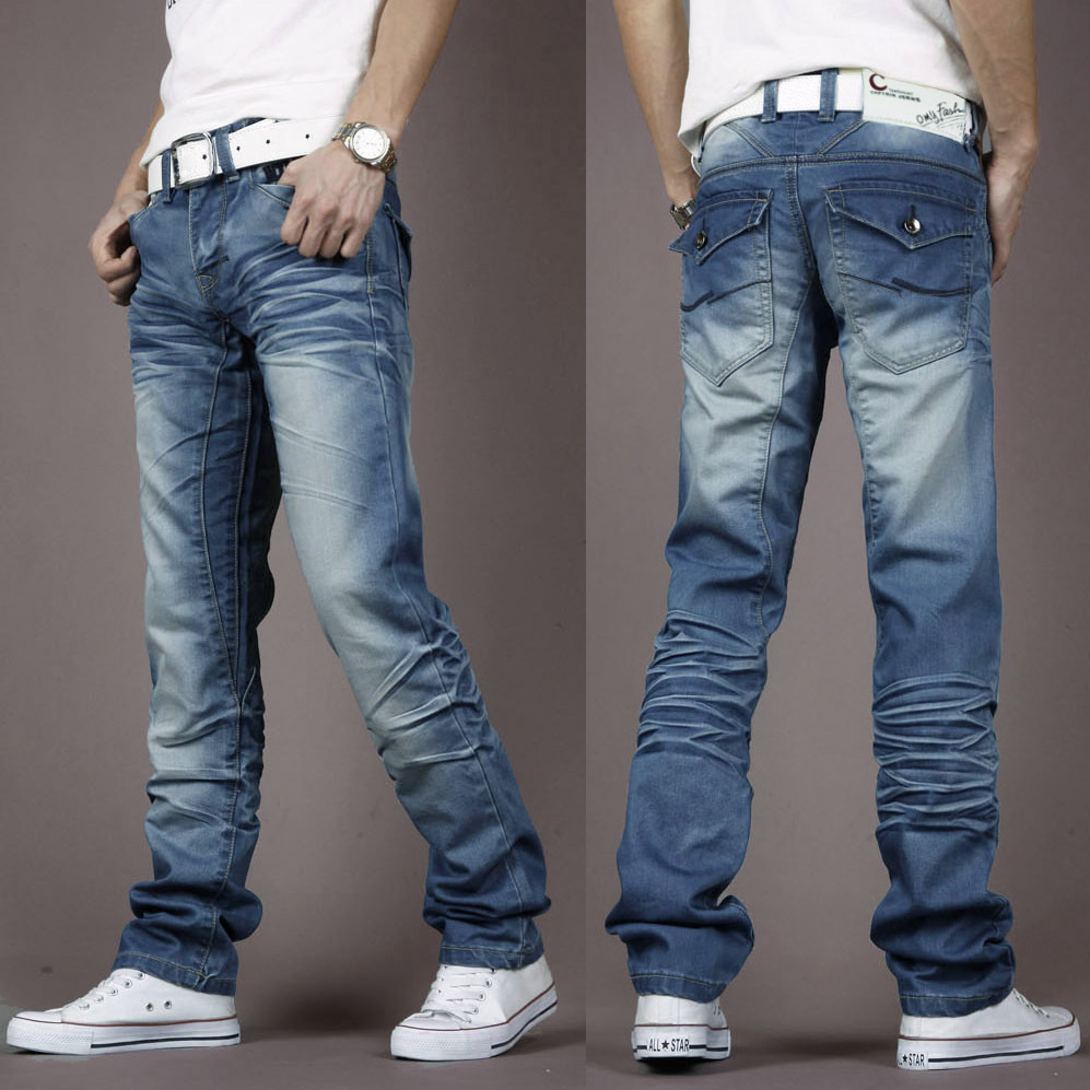 2014 Winter Autumn Warm Thick Jeans Men/Men's Crease Whisker and Heavy