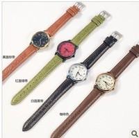 Simple retro fashion authentic Korean female table quartz watch strap calendar girls