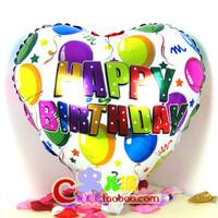 18 heart  aluminum balloon birthday supplies decoration balloon aluminum foil balloons