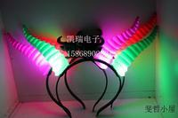 Free Shipping 10pcs/lot mixed LED OX horn headband and LED bowknot headband for festival as party supplier