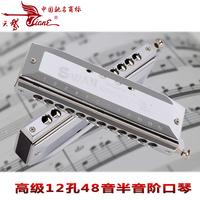 Chromatic harmonica 12 48 sw1248 exquisite portable case practical type