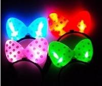 led Flash hair pin luminous bow hairpin MINNIE headband christmas party supplies free shipping