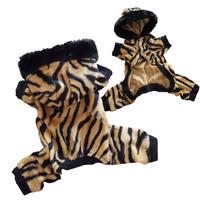 Animal Print  Tiger  Faux Fur Dog Pajamas Jumpsuits Dog Clothes ALL SIZE