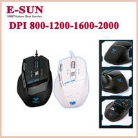 New Tarantula gaming mouse cs cf wired usb adjustable black white Free Shipping