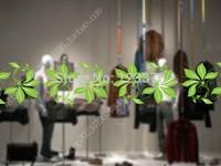 Glass film glass waistline sliding door bumper stickers glass stickers lily decorative pattern  free shipping
