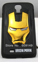 Free shipping 8colours Iron man mobile phone case for samsung galaxy s4 3D cell phone case for samsung i9500