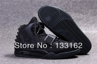 Free shipping wholesale 2013 new color new men's basketball shoes all black men's shoes 40-47